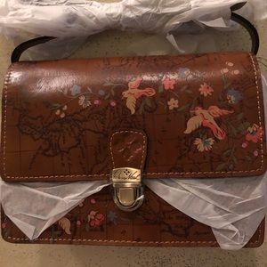 Patricia Nash Floral Map Lanza Crossbody Bag